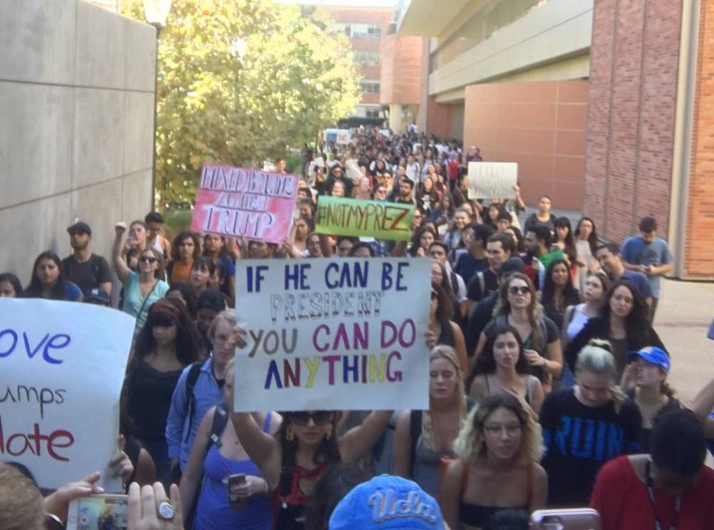 Irrumpen protestas en UCLA, USC y South Gate contra Trump