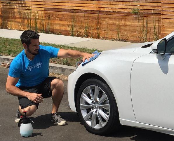 Squeegy, la app para que te limpien el coche a domicilio
