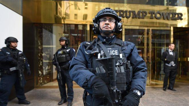 Molesto despliegue de seguridad para proteger a Donald Trump en NY
