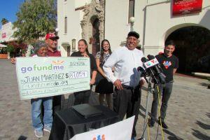 Paletero golpeado en asalto en North Hollywood recibe cheque por 87,054 dólares