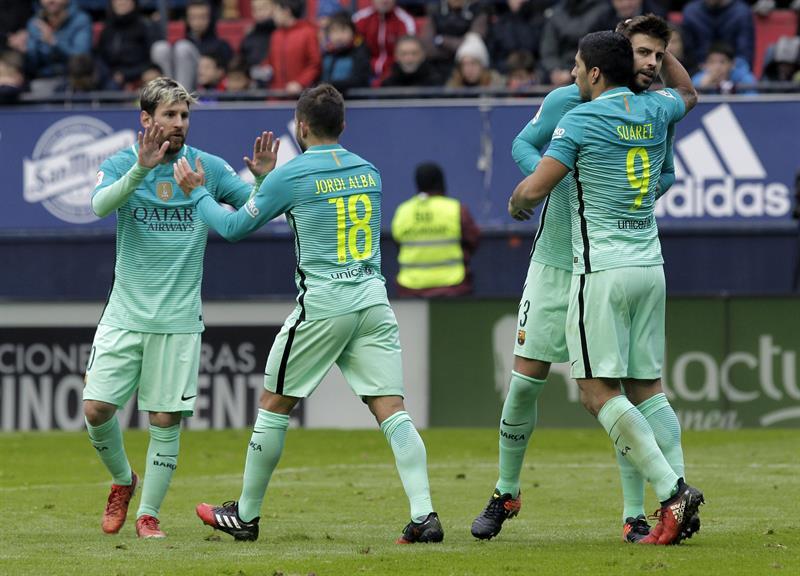 Siempre Lionel Messi: marcó dos goles en el triunfo de Barcelona por 3-0 ante Osasuna