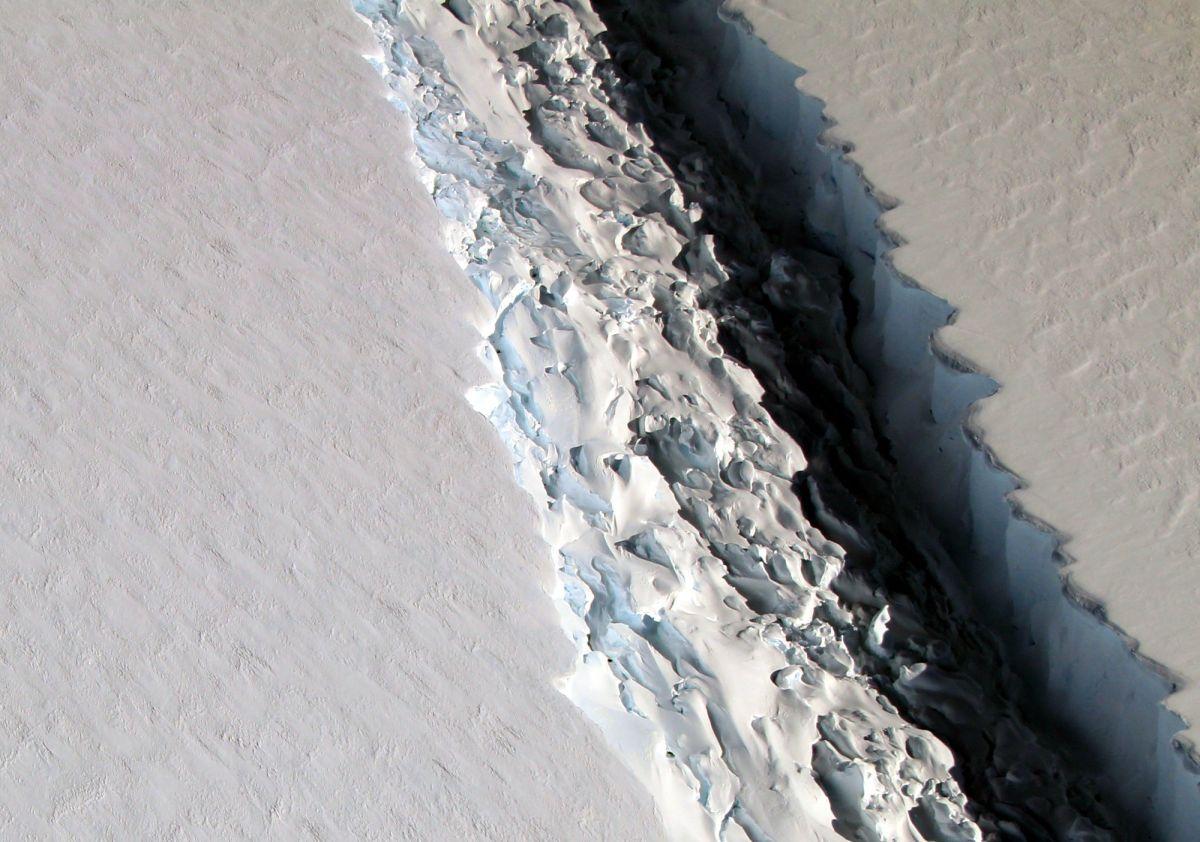 La ruptura de este campo de hielo en la Antártida se está acercando.