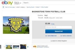 Equipo de fútbol inglés sale a la venta en internet por menos de una libra