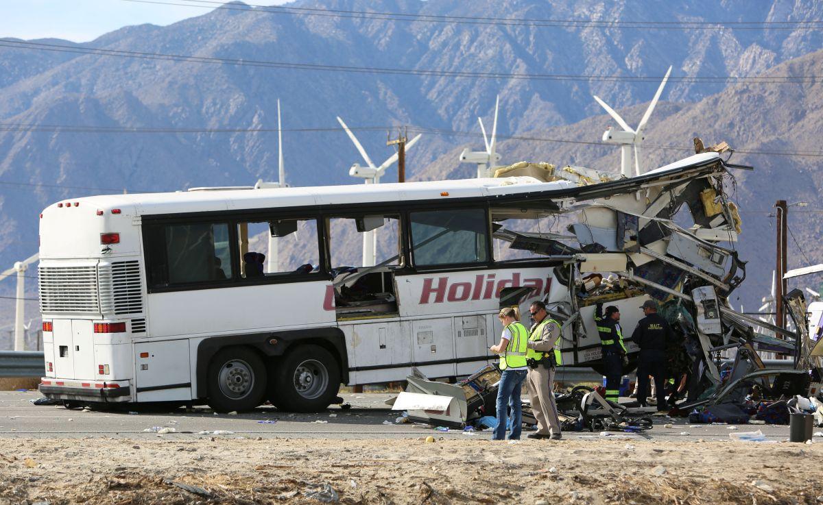 En el accidente muerieron 13 personas, todas sentados en la parte delantera del bus