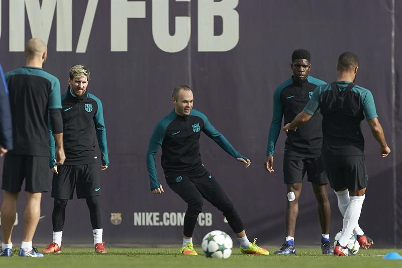 El Barcelona se prepara para el duelo de la última jornada de la Champions League.