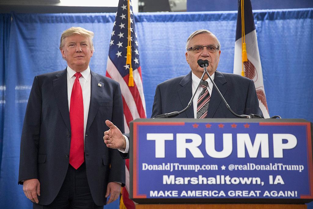 El Sheriff Arpaio fue uno de los partidarios más fieles de Trump durante su campaña.