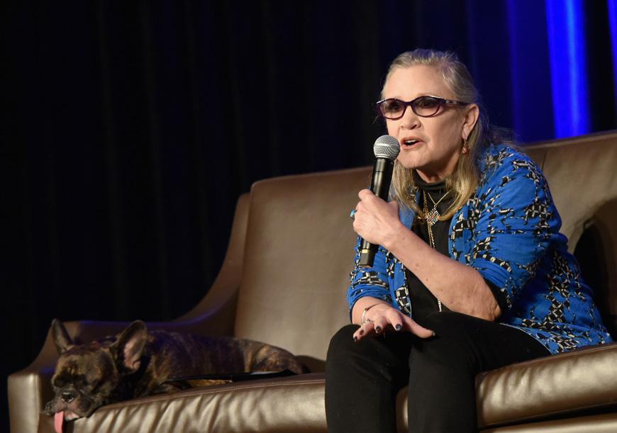La sangrienta amaneza de Carrie Fisher a un acosador de Hollywood
