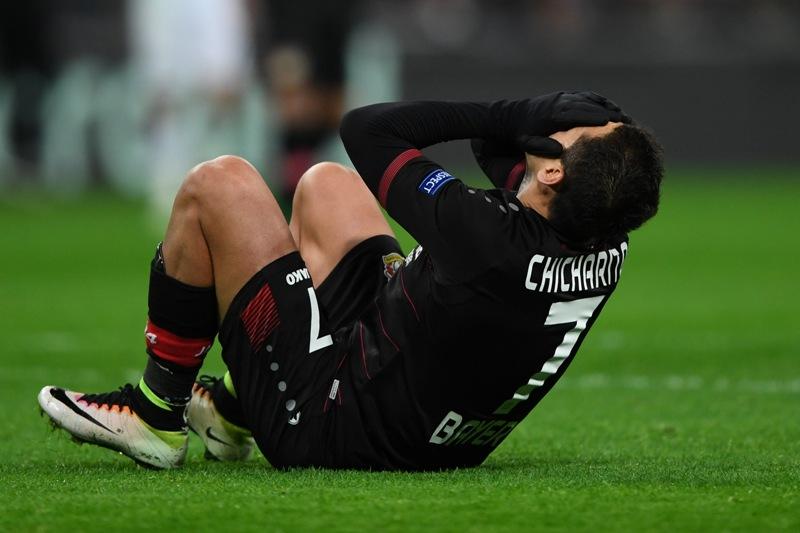 Chicharito' Hernández tardó casi 1,500 minutos sin anotar gol.