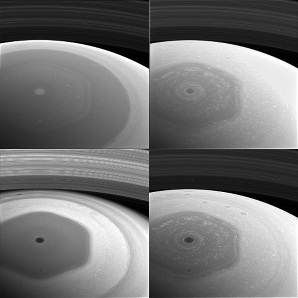 La sonda Cassini muestra el curioso polo hexagonal de Saturno