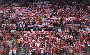 La porra Schickeria München, del Bayern Munich, una de las más famosas en Bundesliga