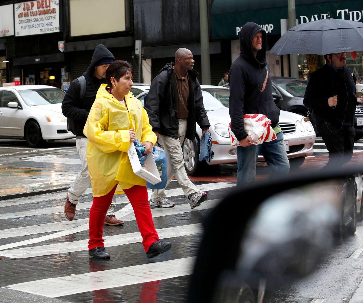 #BuenosDíasLA: ¿Quién dijo que en Los Ángeles no llueve?