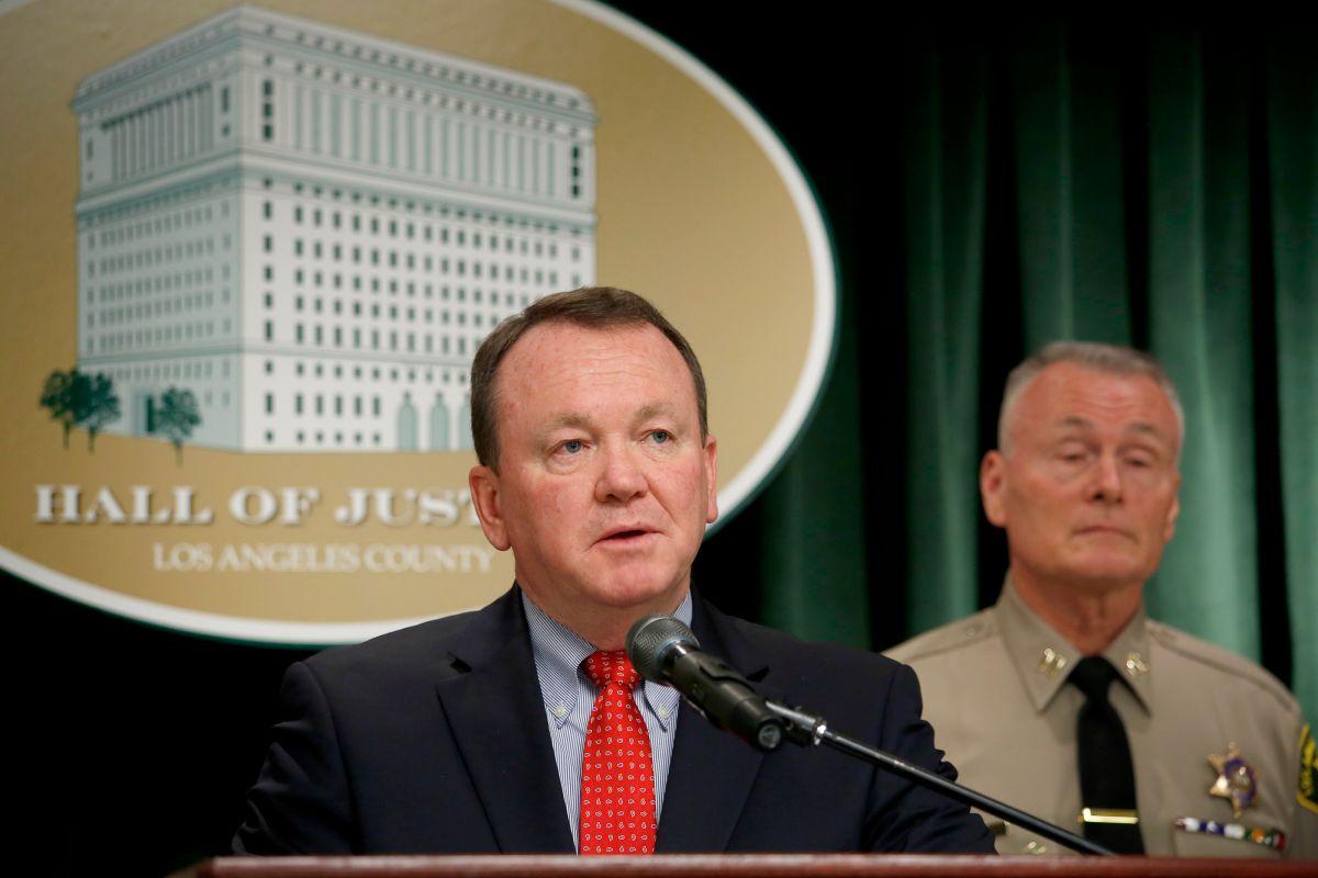 El Sheriff del condado de Los Ángeles Jim McDonnell.