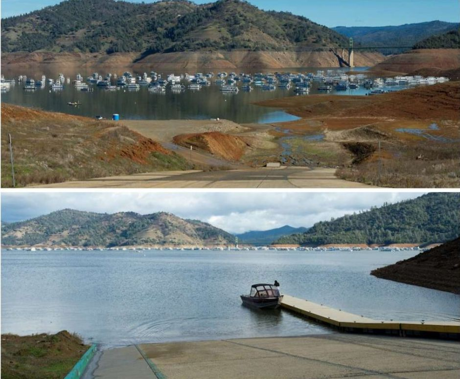 El antes y el después de las tormentas en California