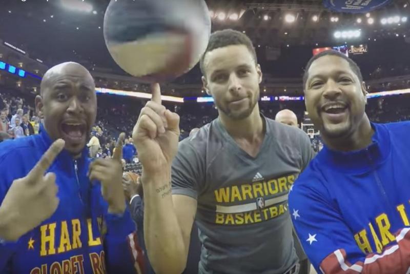 Stephen Curry y los Harlem Globetrotters.