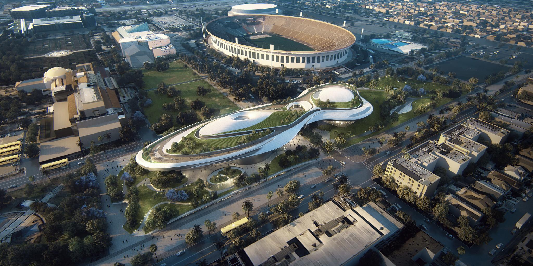 Los Ángeles ofrece un área de 7 acres en Exposition Park, en una ubicación céntrica cerca de museos e instituciones educativas (Foto: Lucas Museum)