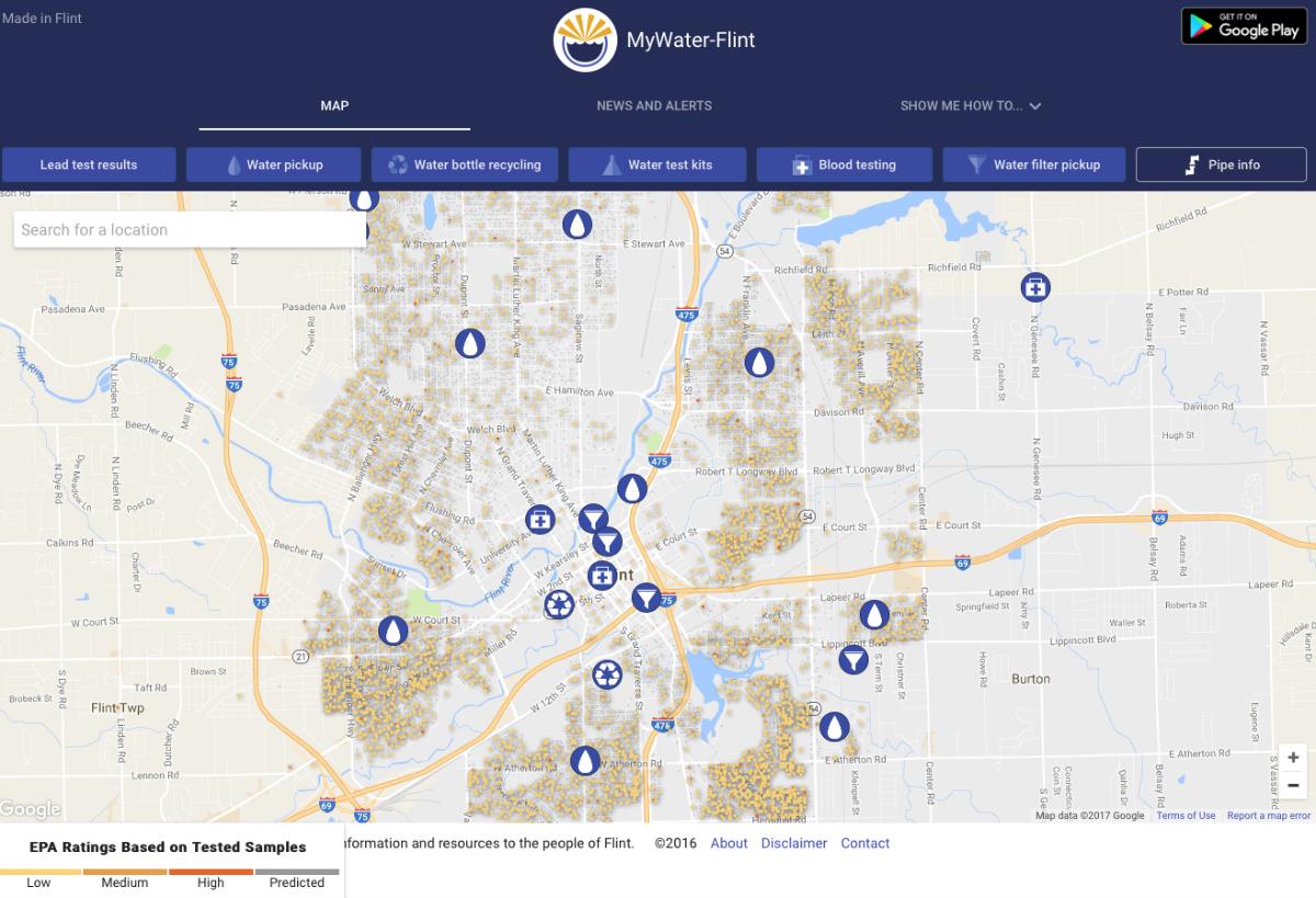 ¿Cómo saber si el agua de Flint no está contaminada? Ya hay una app para eso