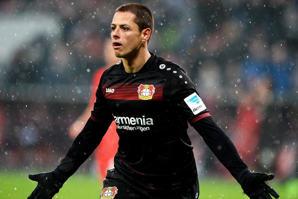 "Javier ""Chicharito"" Hernández hizo el gol 50,001 de la Bundesliga."