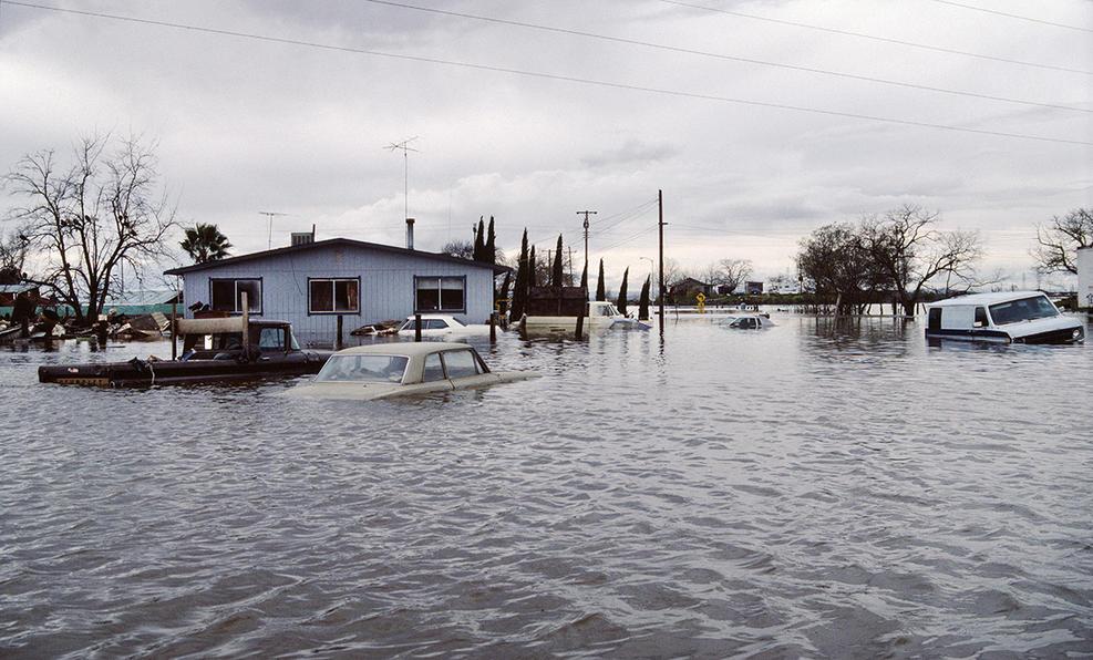 Echando la vista atrás, las inundaciones en California son relativamente habituales.