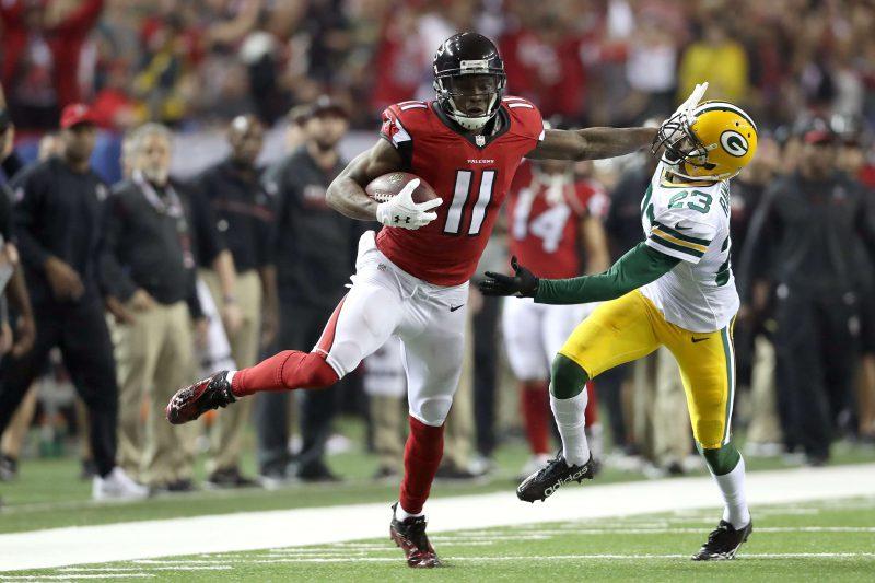 Julio Jones es el arma más importante de la ofensiva de los Falcons. La pregunta es si Bill Belichick le mandará doble cobertura defensiva en el Super Bowl.