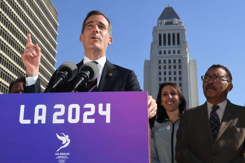 L.A. tendrá que esperar hasta 2028 para ser sede olímpica, dice Garcetti