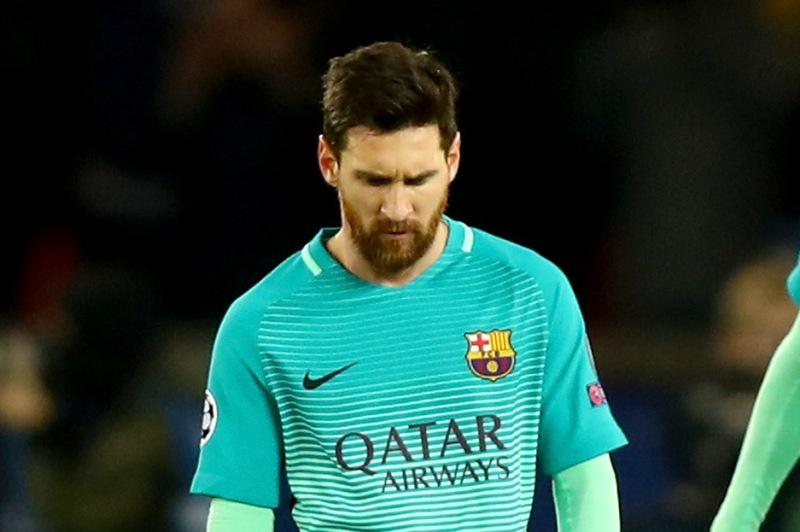 Lionel Messi tuvo una noche para el olvido en el Parc des Princes.