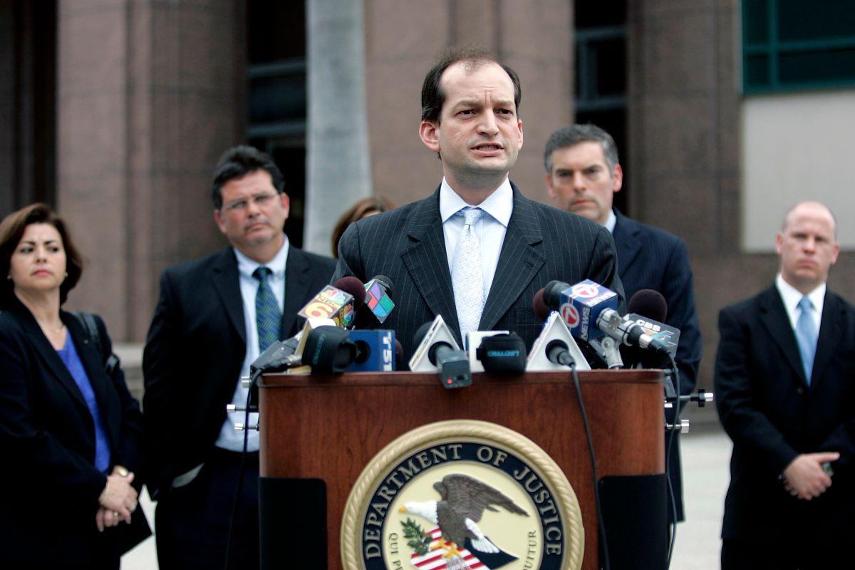 Alex Acosta sería el primer hispano en el gabinete de Trump.