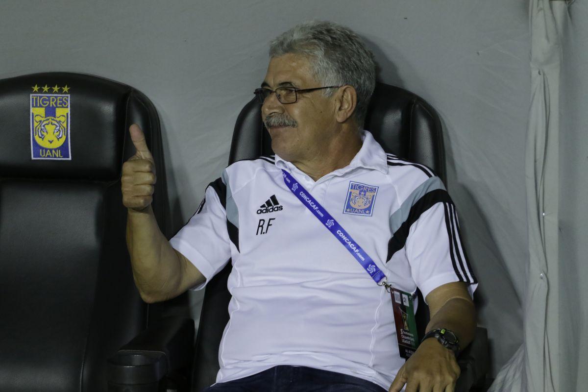 Ricardo Ferretti, durante el partido de ida de los Cuartos de Final de la Liga de Campeones de la Concacaf.