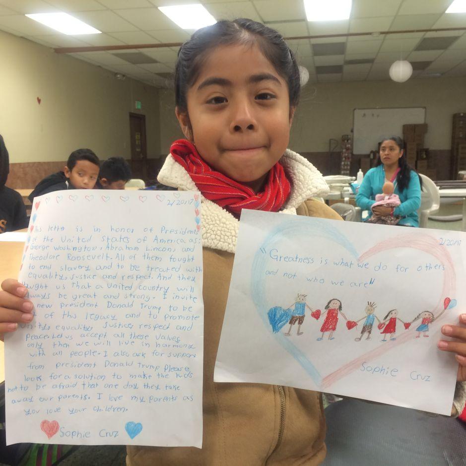 Niños escriben cartas a Trump y le piden que no los separe de sus padres