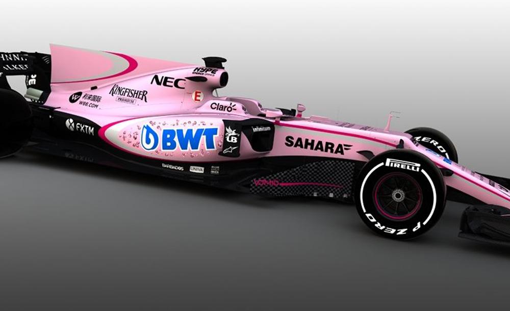 """El nuevo auto del """"Checo"""" Pérez en F1 será rosa ¡Y los memes no perdonan!"""