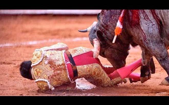 La brutal cornada que recibió en el trasero el torero mexicano Antonio Romero