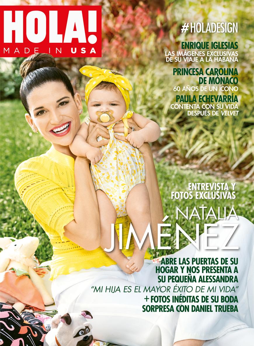 Natalia Jiménez en la revista Hola