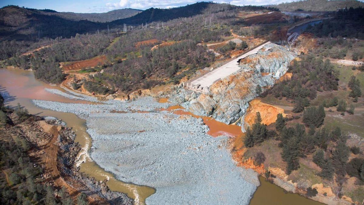 Tras la erosión provocada por el desbordamiento de Oroville, se han encontrado partículas de oro.