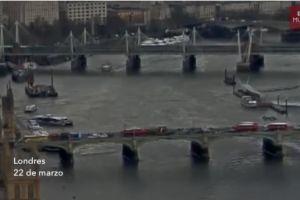 Video: Momento en que mujer cae al río Támesis durante ataque en Londres
