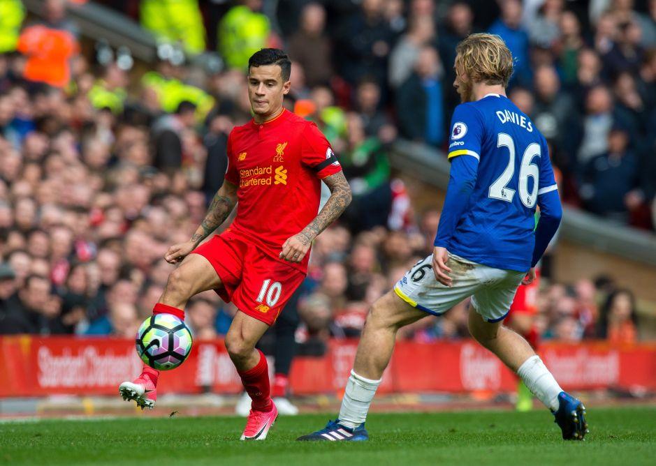 El bello gol de Coutinho en el Liverpool vs. Everton