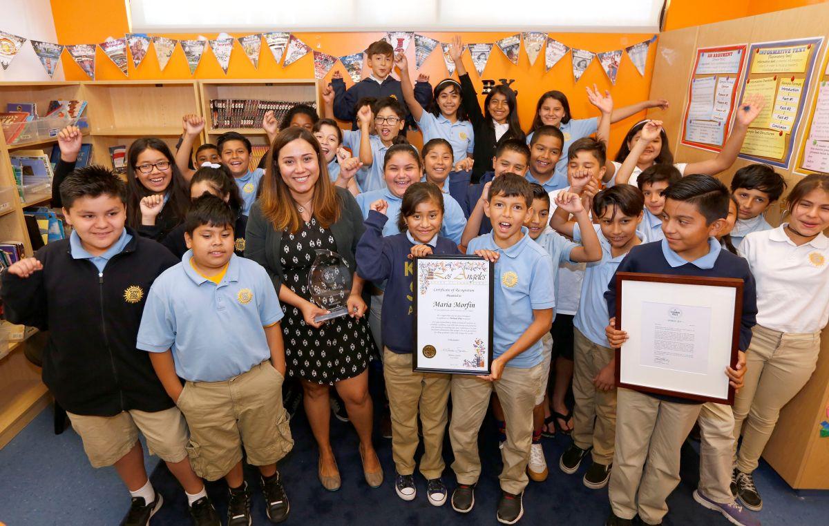 Dos maestros del este de Los Ángeles son reconocidos como los mejores de la nación