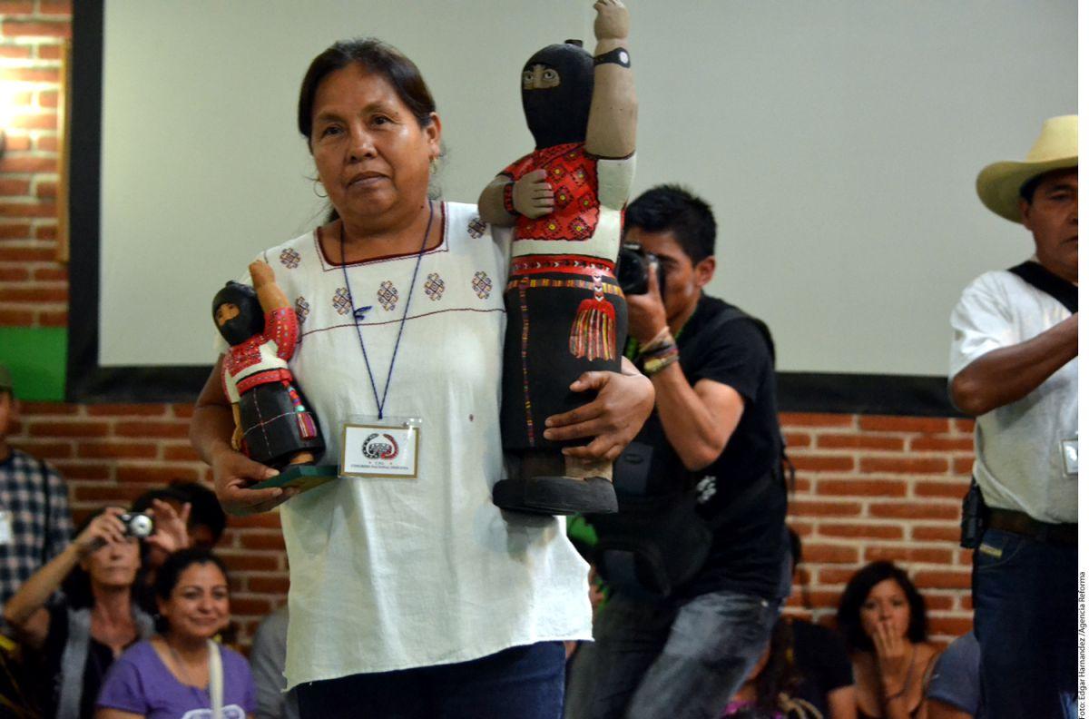 Atacan caravana de Marichuy, candidata zapatista por la presidencia de México