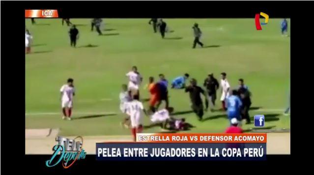 Gran batalla campal se armó en partido de la Copa Perú
