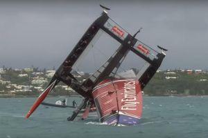 Mira este impresionante accidente en la America's Cup de vela