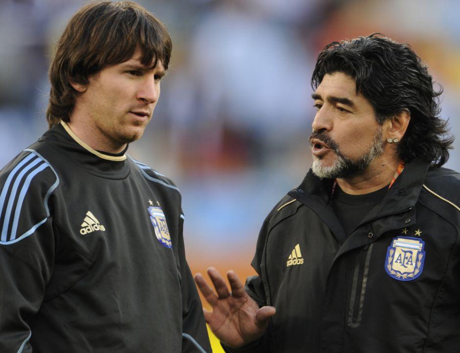 """La anécdota de Maradona sobre Messi: """"No olvidaré cuando lo vi llorar como un bebé"""""""