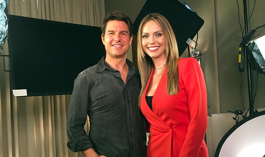 Jessica Carrillo estuvo a solas con Tom Cruise
