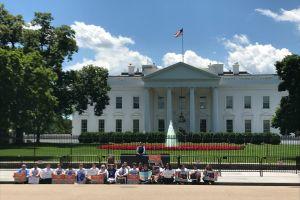 Activistas se dejan arrestar frente a la Casa Blanca para exigir el cese a las deportaciones