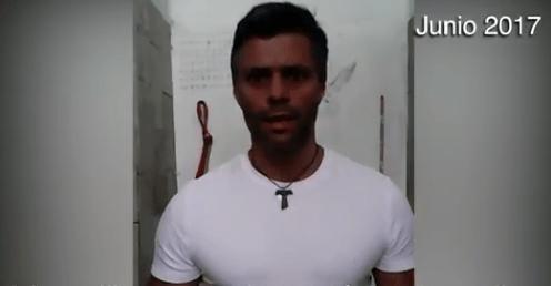 "Video: Leopoldo López pide a militares ""rebelarse"" contra Maduro"