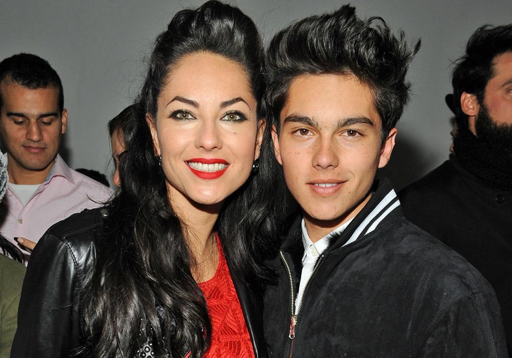 Bárbara Mori y su hijo Sergio Mayer Mori.