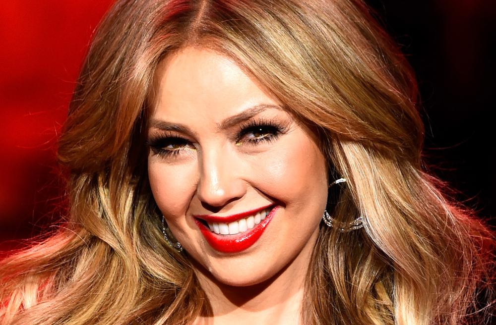 La cantante y actriz Thalía