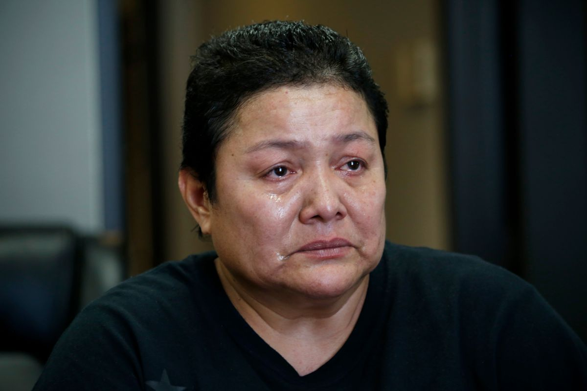 07/20/17/LOS ANGELES/Asylum recipient and immigrant of El Salvador Rosalina Menjivar discusses how she was a victim of rape, stabbed, and burned with acid because she is a lesbian.  (Photo Aurelia Ventura/ La Opinion)