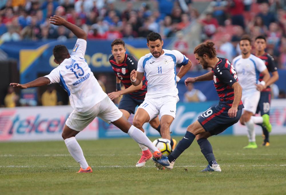 Estados Unidos derrotó 3-0 a Nicaragua en Copa Oro