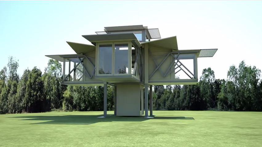 La firma inglesa Ten Fold Engineering es la creadora de esta novedosa casa.