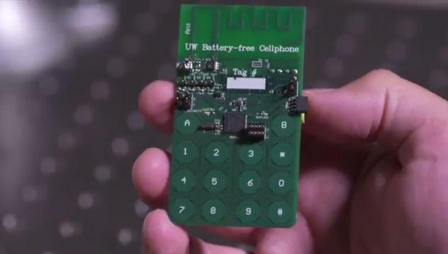 El prototipo del teléfono celular que no necesita batería para funcionar.