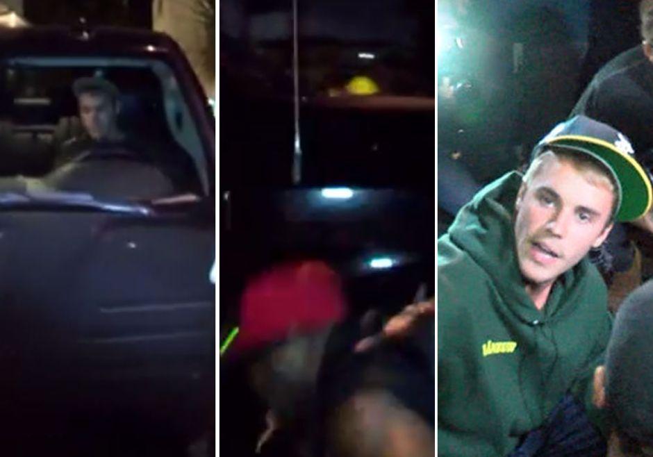 Justin Bieber atropelló a un paparazzi afuera de la iglesia (VIDEO)