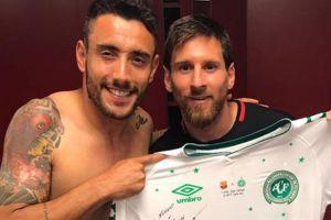 ¿Qué hará el jugador de Chapecoense con la camiseta que intercambió con Messi?